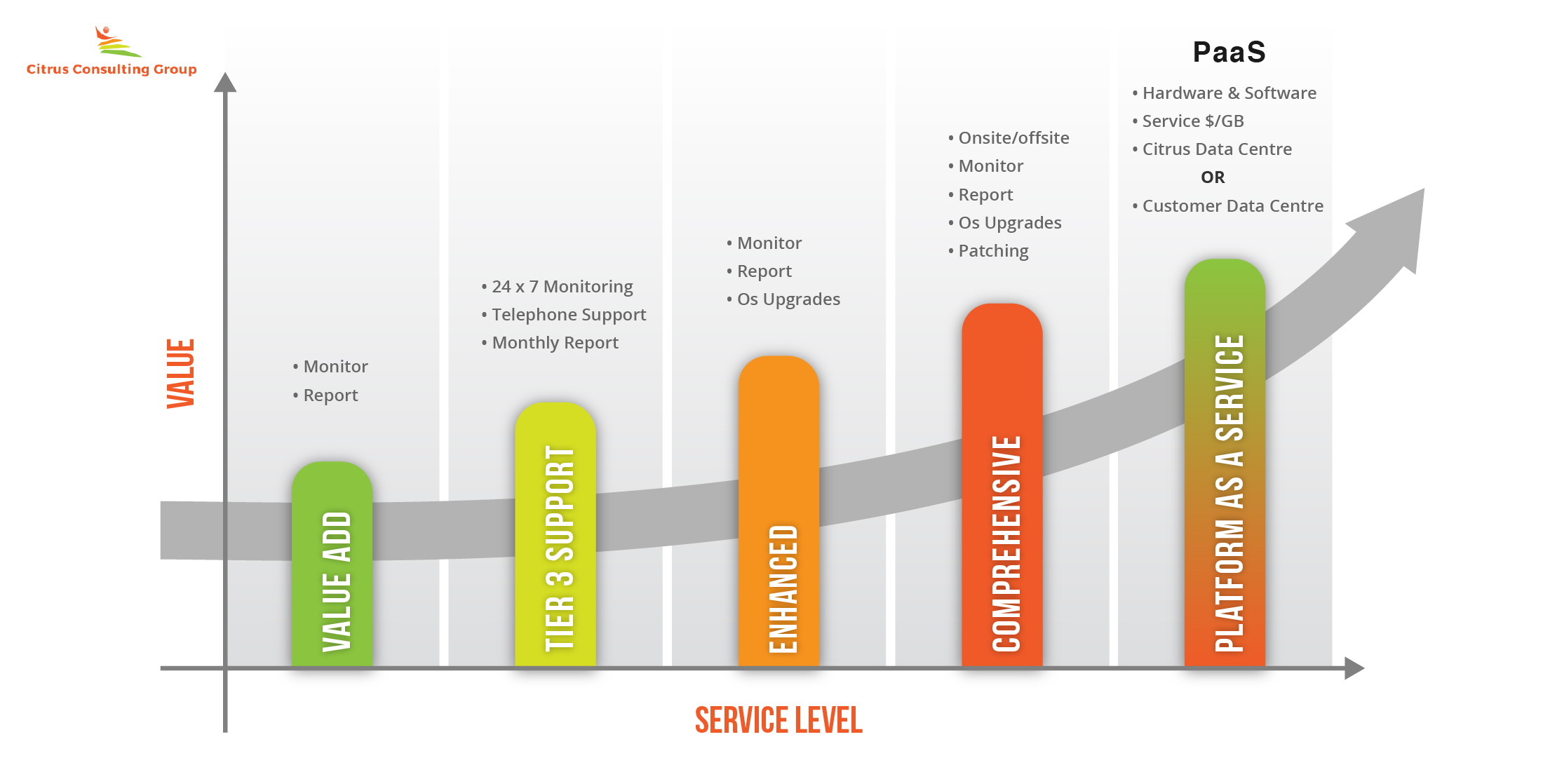 Citrus Consulting's Value-Service Level Graph